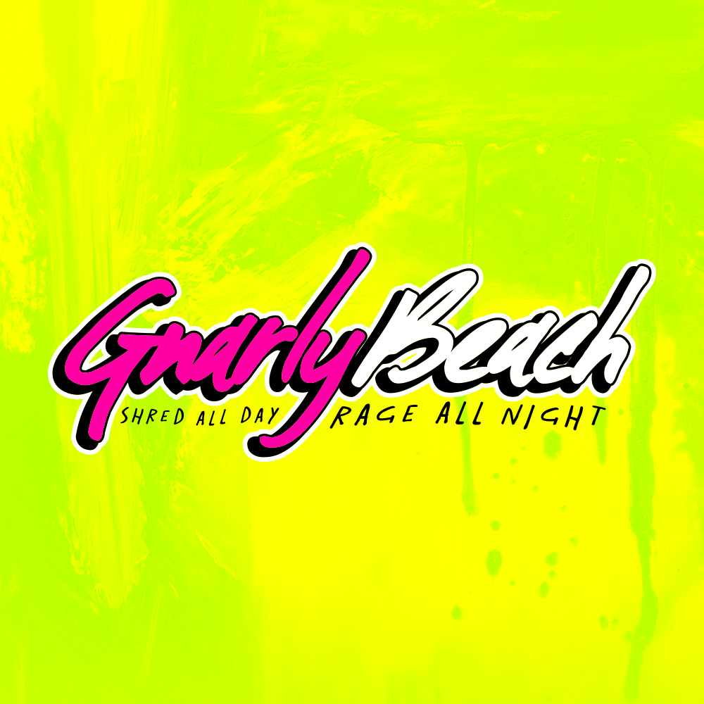 gnarly beach, lifestyle brands, fanny pack, neon, beach wear, festival clothing, party pack, beach wear, california clothing, gnarly pouch