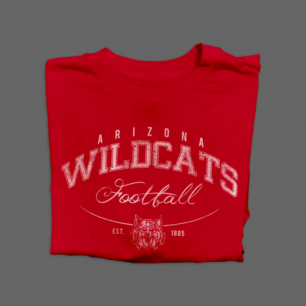 university of arizona, wildcats, football, u of a, uofa, ncaa, college football clothing, branding, arizona, usa, lifestyle brands, tshirt design