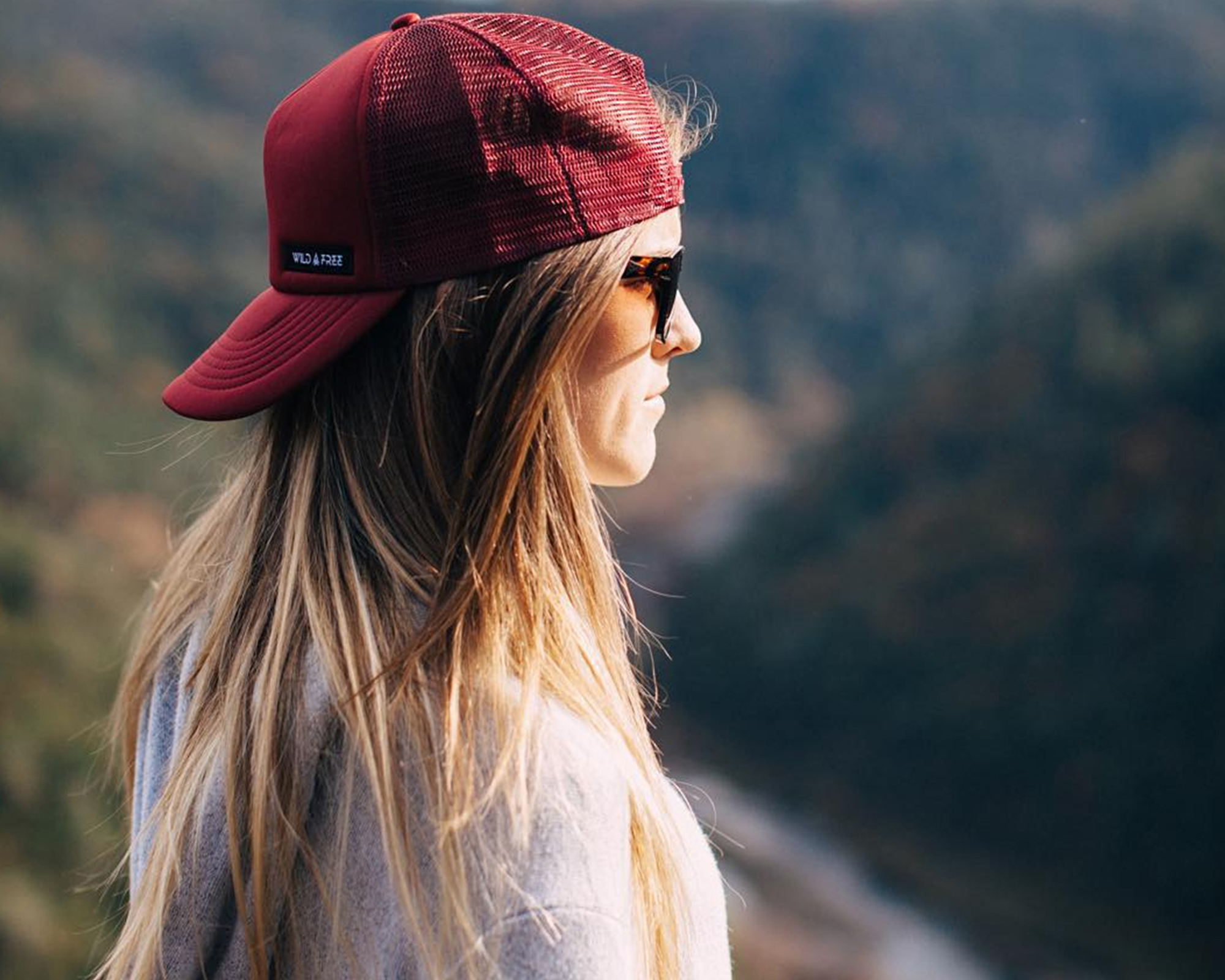 wild and free, mesh hats, trucker hats, eyewear, interchangeable sunglasses, fashion sunglasses, style sunglasses, california lifestyle, lifestyle brands, model, @wildandfreelife, instagram, lifestyle wear